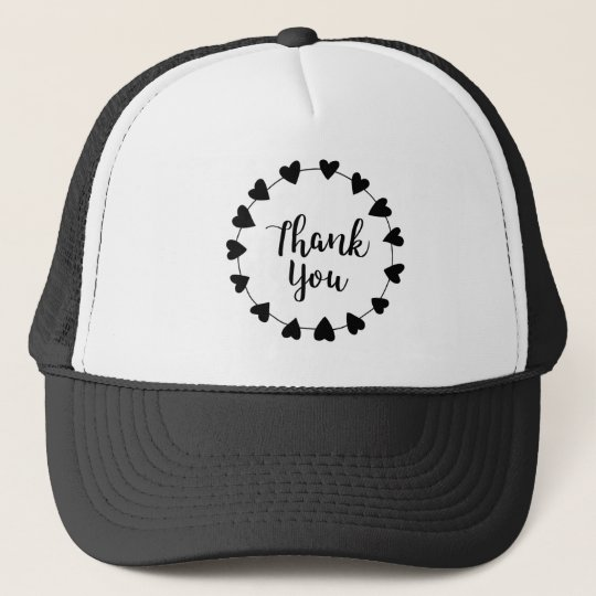 THANK YOU, Thank you card Trucker Hat