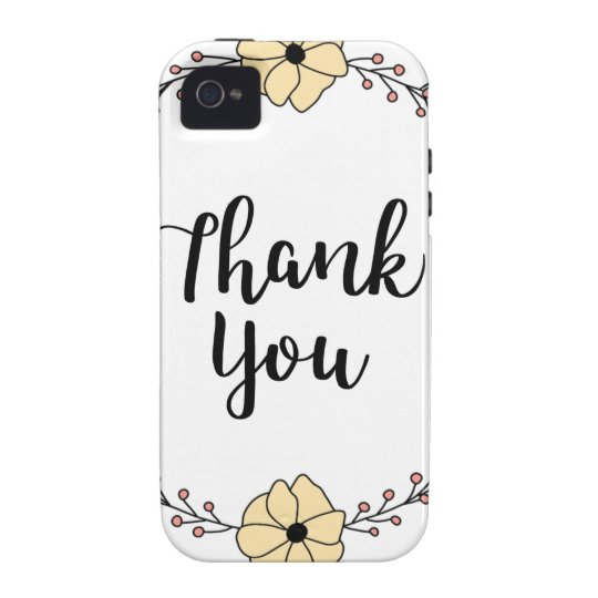 THANK YOU! Thank you card Vibe iPhone 4 Covers