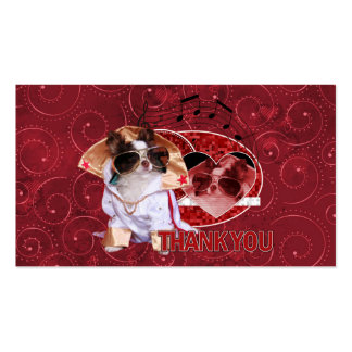 Thank You - Thank You Very Much - Chihuahua -Gizmo Business Card Templates