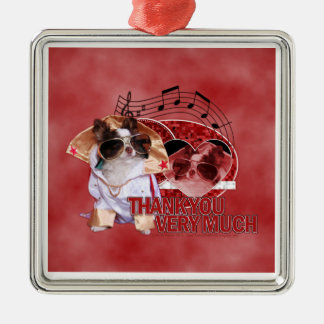 Thank You - Thank You Very Much - Chihuahua -Gizmo Christmas Ornaments