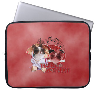 Thank You - Thank You Very Much - Chihuahua -Gizmo Laptop Sleeve