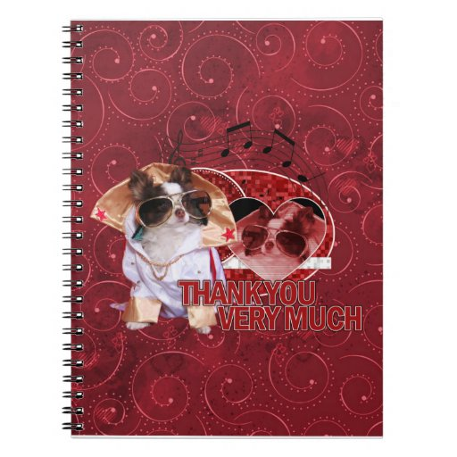 Thank You - Thank You Very Much - Chihuahua -Gizmo Spiral Note Book