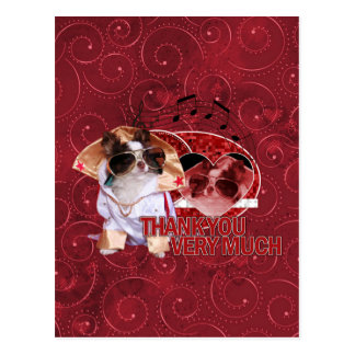 Thank You - Thank You Very Much - Chihuahua -Gizmo Postcards