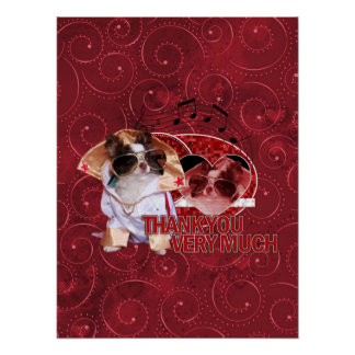 Thank You - Thank You Very Much - Chihuahua -Gizmo Poster