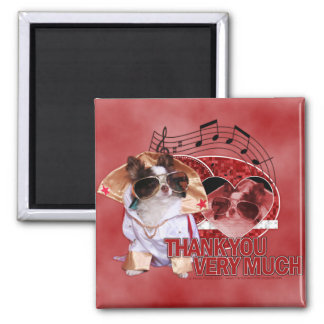 Thank You - Thank You Very Much - Chihuahua -Gizmo Square Magnet