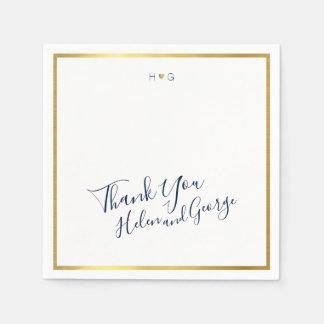 Thank You . thanks wedding party Disposable Napkin