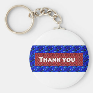 Thank you ThankYou on giveaway gifts Basic Round Button Key Ring