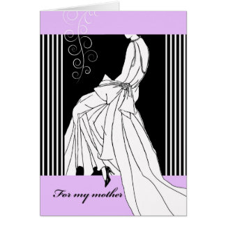 Thank You to Mother from Daughter, Bridal Gown Card