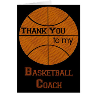 Thank You to my Basketball Coach Card