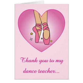 Thank you to my Dance Teacher: Ballet Shoes Card