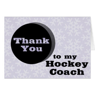 Thank You To My Hockey Coach Card