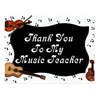 Thank You To My Music Teacher Postcard