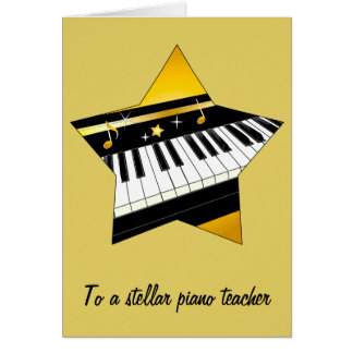 Thank You to My Piano Teacher Card