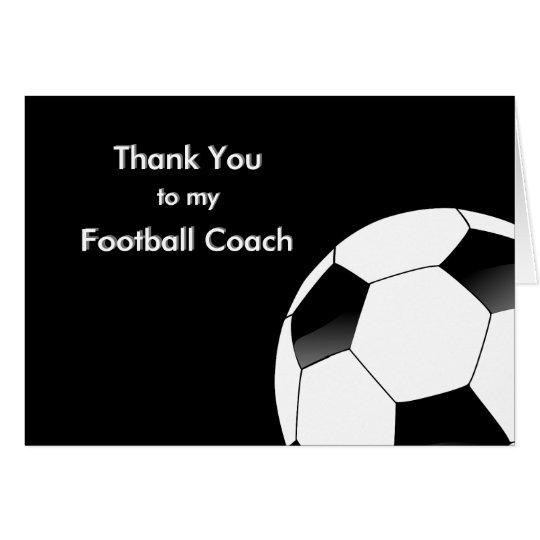 Thank You to my Soccer & Football Coach Card