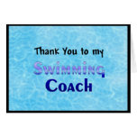 Thank You To My Swimming Coach Greeting Card