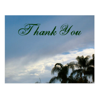 Thank You trees and sky Postcard