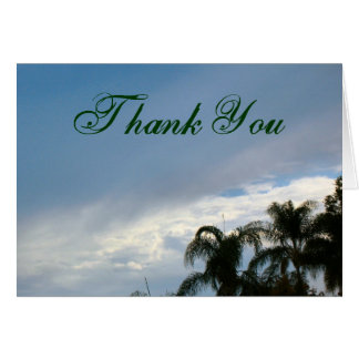 Thank You trees sky Greeting Card