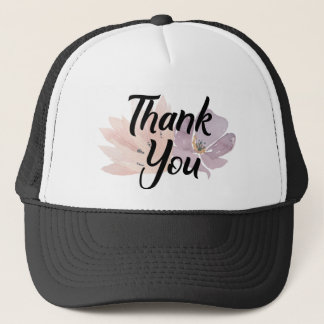 Thank You Trendy Floral Trucker Hat
