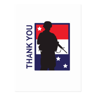 THANK YOU TROOPS POSTCARD