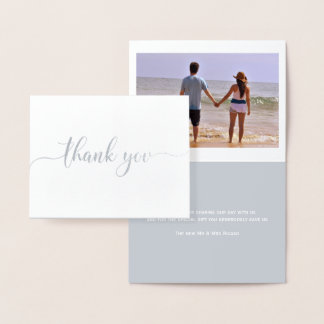 Thank You Typography Foil Card
