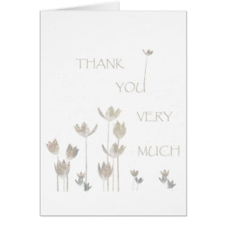Thank you very Much, flowers Greeting Cards