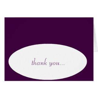 """""""thank you...very much!"""" note card"""
