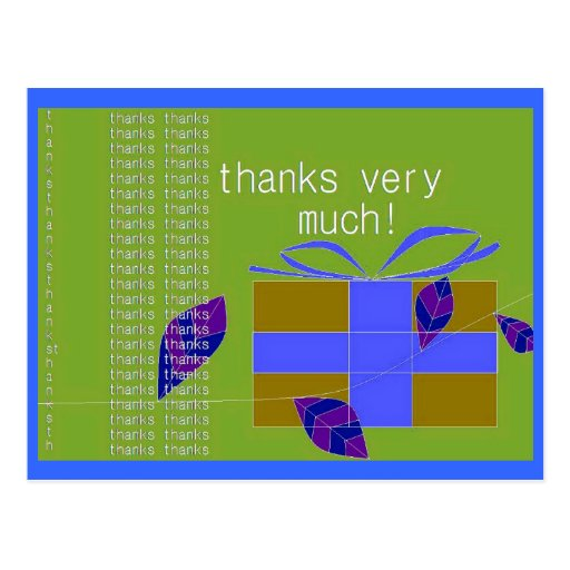 Thank You Very Much! Postcards