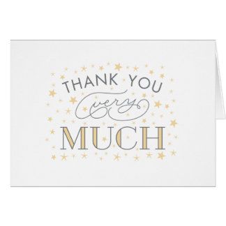 Thank You Very Much Star Baby Shower Yellow Note Note Card