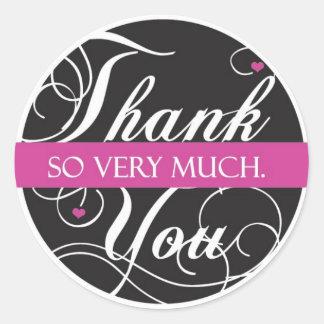 Thank you very much round sticker