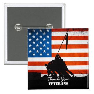 Thank You Veterans 15 Cm Square Badge
