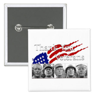 Thank You Veterans Buttons