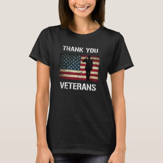 Thank you Veterans Military Salute US Flag Shirt