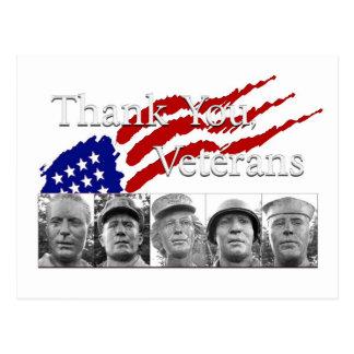 Thank You Veterans Postcard