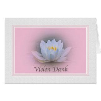 Thank you, Vielen Dank, German Card