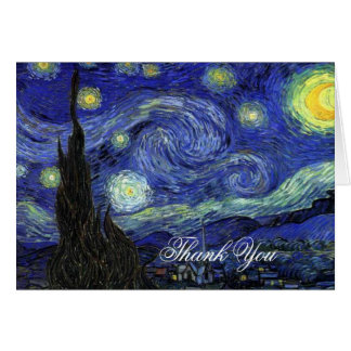 Thank you. Vincent van Gogh, Starry Night Greeting Card