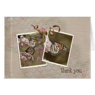 Thank You Vintage Butterflies Card