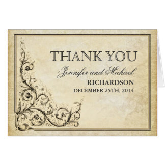 thank you vintage flourishes card