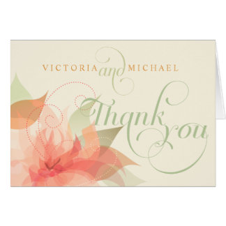 Thank You Wedding Abstract Floral-2 Notecards Note Card