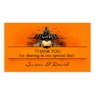 Thank You Wedding Cards - Halloween Love Pack Of Standard Business Cards