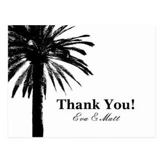 Thank you wedding cards with palm tree image