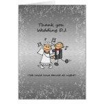 Thank you Wedding Dj Music Cards