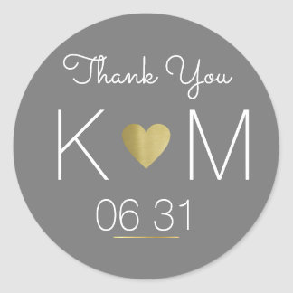thank you . wedding favor classic round sticker
