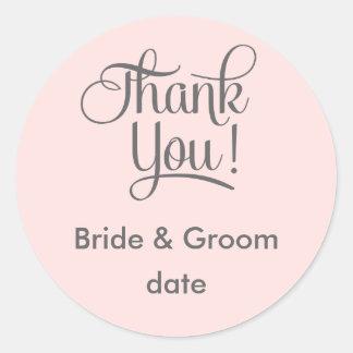 Thank you wedding favor sticker