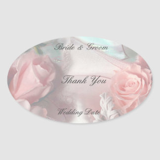 Thank You Wedding Favor Tag Stickers