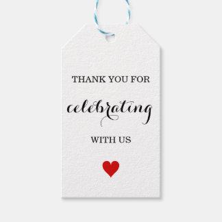 Thank You Wedding Favor Tags