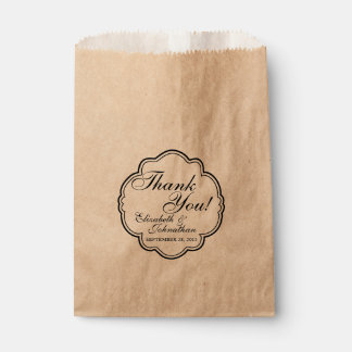 Thank You Wedding Favour Candy Bar Buffet Bags Favour Bags