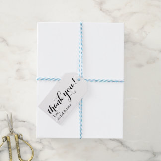 Thank You Wedding Favour Tags