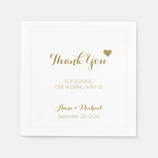 thank-you wedding reception party disposable serviettes