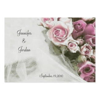 Thank You Wedding Roses Bouquet Business Card Templates