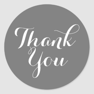 Thank You Wedding Script with Color Background Round Sticker